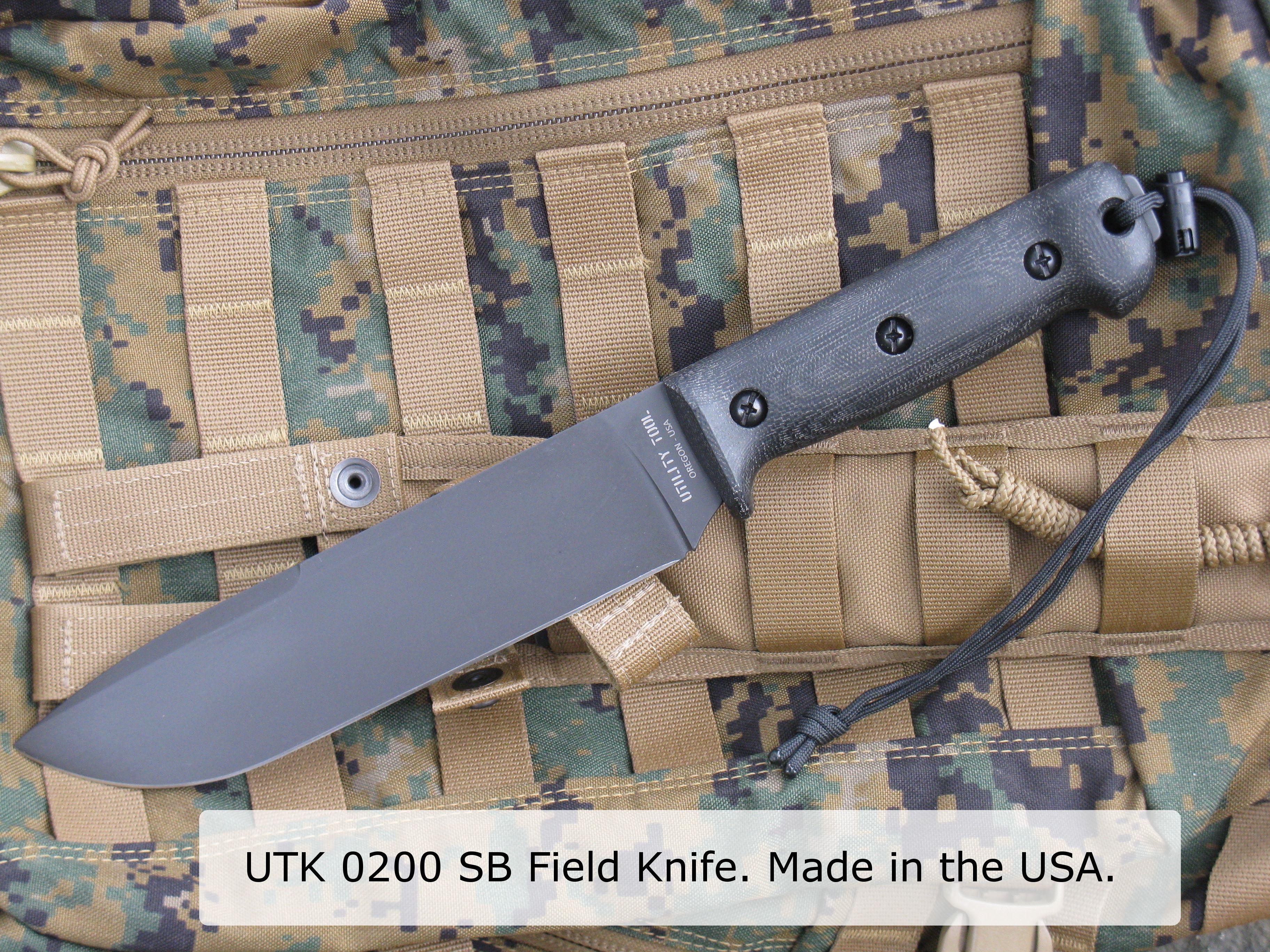 UTK0200 SB Field Knife w words