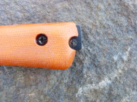 Prototype Small Field Knife pommel detail: