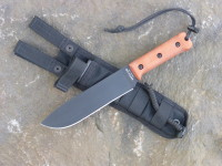UTK0200-CB Battle Axe knife with Natural Canvas Micarta Ajax handle and Black Nylon Sheath