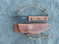 UTK0100 Black Oxide, Handle 3 in Natural Micarta with Handi-Fire Tool Sheath