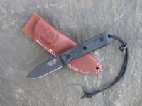 UTK0097 Black Oxide, Handle 4 in Black Micarta with Standard Sheath