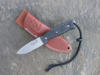 UTK0097 Stonewashed, Handle 5 in Black Micarta with Standard Sheath