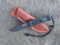 UTK0110 Black Oxide, Handle 1 in Black Micarta with Standard Sheath