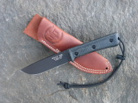 UTK0110 Black Oxide, Handle 3 in Black Micarta with Standard Sheath