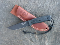 UTK0110 Black Oxide, Handle 5 in Black Micarta with Standard Sheath
