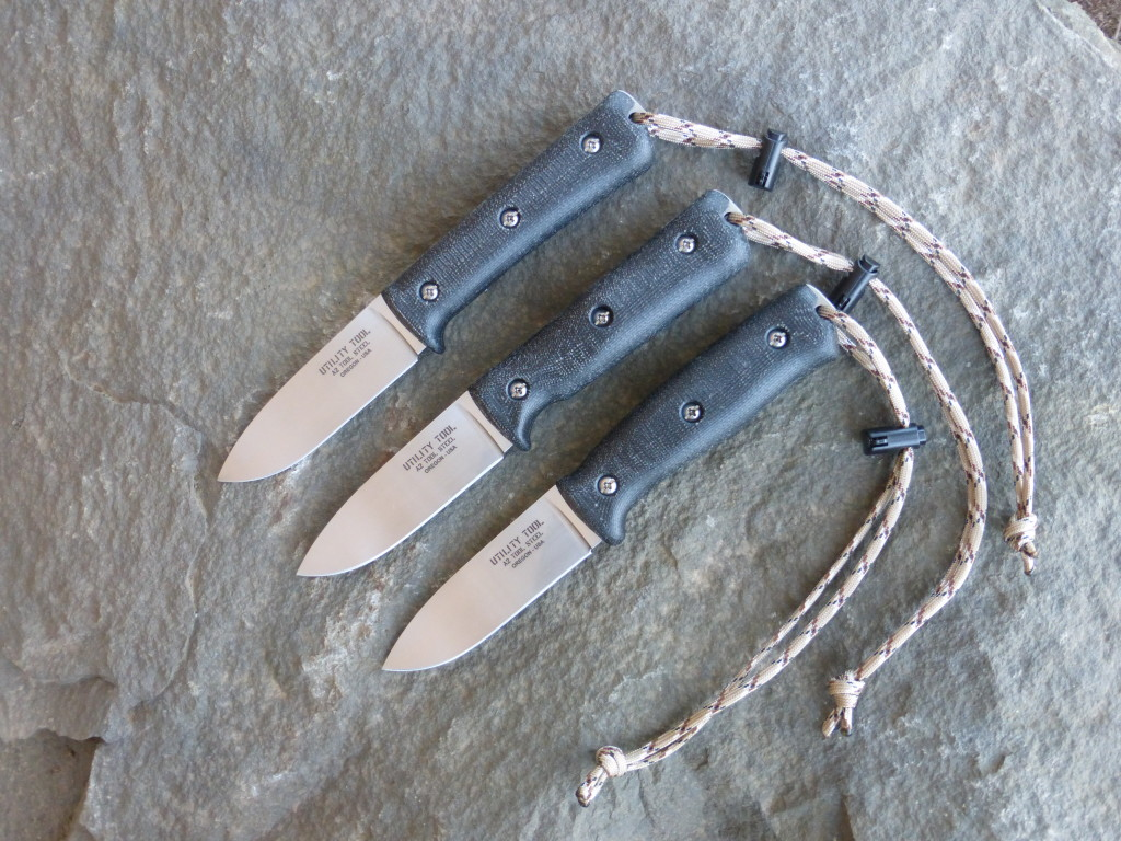 """Limited Edition Utility Tool UTK0097 3.85"""" Blade Wilderness Knife with black micarta handle."""