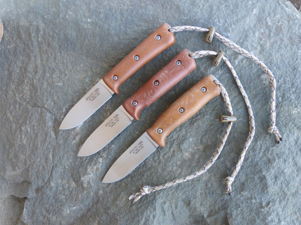"Limited Edition Utility Tool UTK0097 3.85"" Blade Wilderness Knife with natural micarta handle."