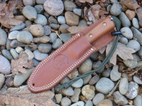 Utility Tool Classic Wilderness Knife prototype in sheath, left hand carry