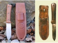 Utility Tool Classic Wilderness Knife prototype shown next to the original Kephart Knife