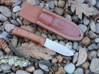 Utility Tool Classic Wilderness Knife prototype, right side with sheath front