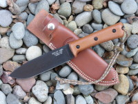 "UTK0151 6"" Wilderness Knife prototype in black oxide with Handle 3"